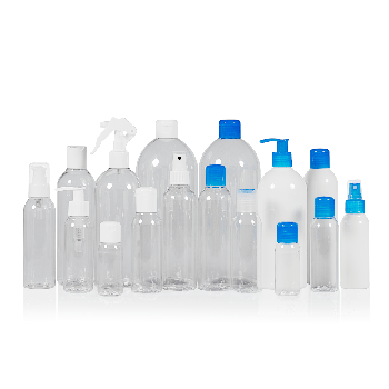 Basic Round flessen PET Transparent