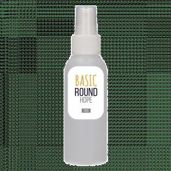 100 ml fles Basic Round HDPE naturel + Spraypomp PP wit