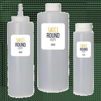 Sauce fles HDPE naturel