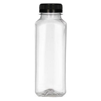 330 ml Juice Square PET transparant + Garantiedop zwart