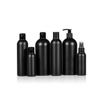 Basic Round flessen HDPE Zwart