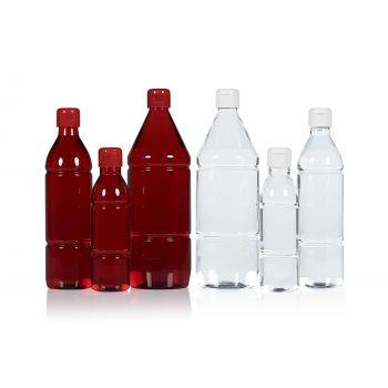 Mix flessen PET Transparent