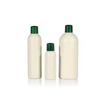 Gerecyclede Basic Round flessen HDPE Ivoor