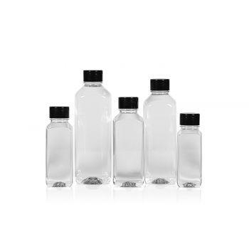 Gerecyclede Juice Square flessen PET Transparent