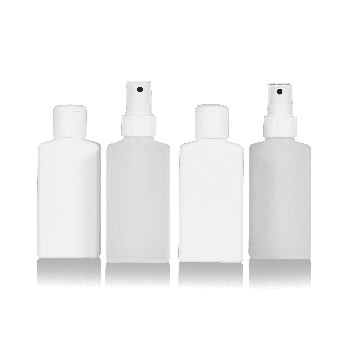 Mailbox Oval Fles HDPE wit naturel